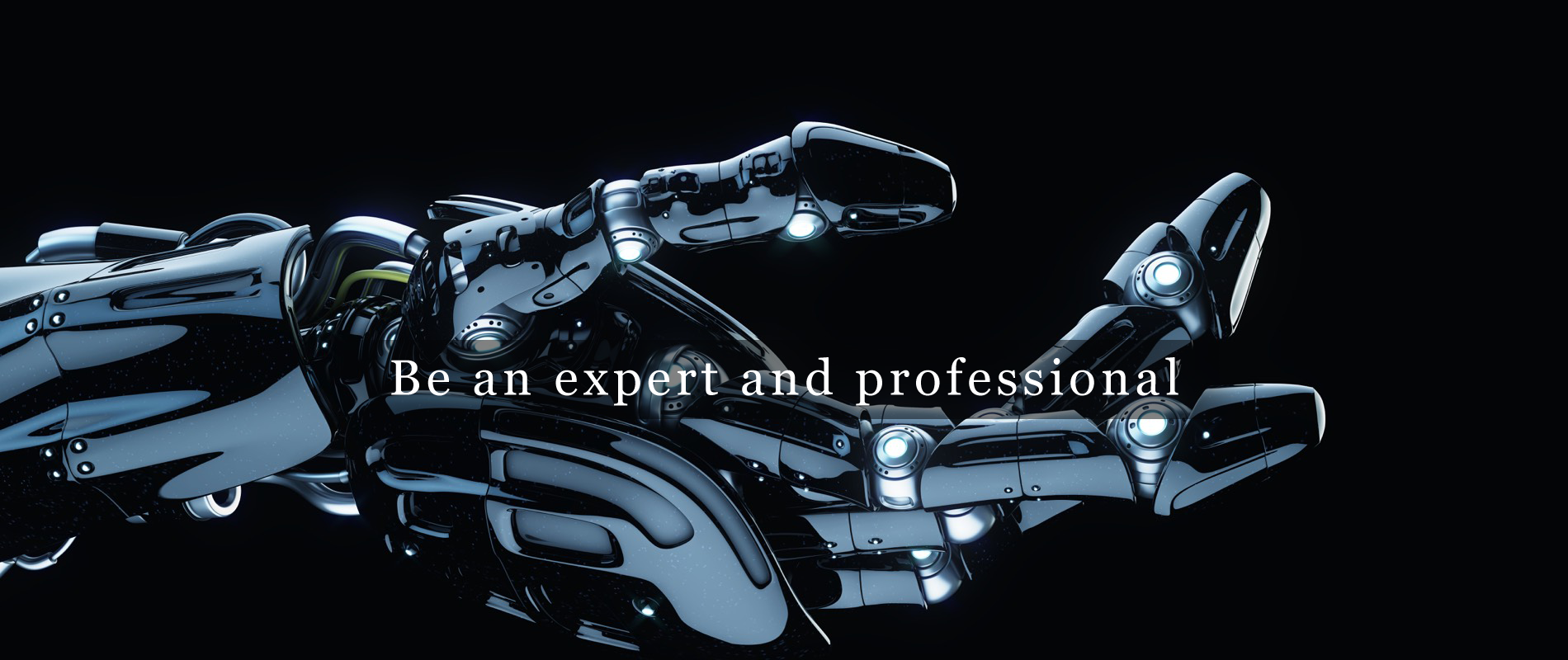 Be an expert and professional